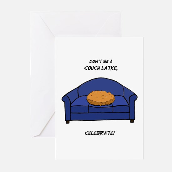 Couch Latke Greeting Cards (Pk of 20)