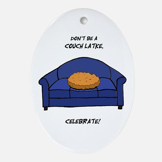 Couch Latke Ornament (Oval)
