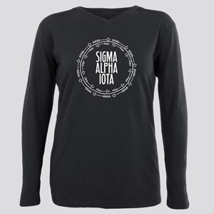 Sigma Alpha Iota Arrows Plus Size Long Sleeve Tee