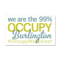 Occupy Burlington Car Magnet 20 x 12