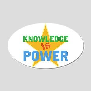 Knowledge is Power 22x14 Oval Wall Peel