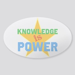 Knowledge is Power Sticker (Oval)
