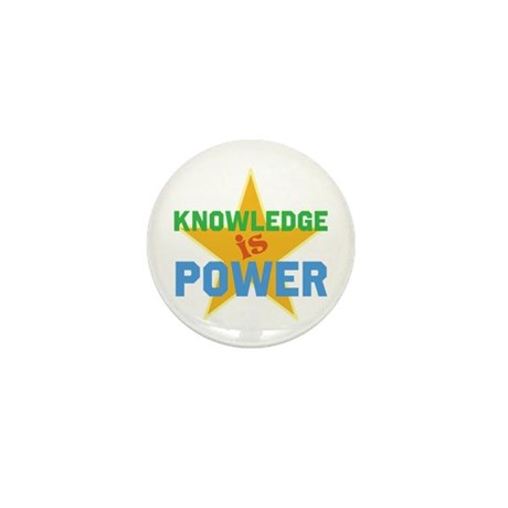 Knowledge is Power Mini Button (100 pack)