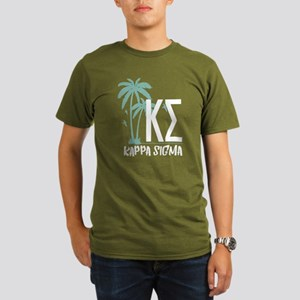 Kappa Sigma Palm Tree Organic Men's T-Shirt (dark)