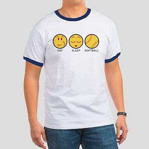 Eat Sleep Softball Ringer T