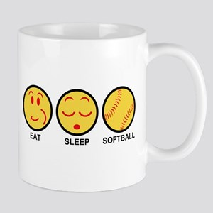Eat Sleep Softball Mug