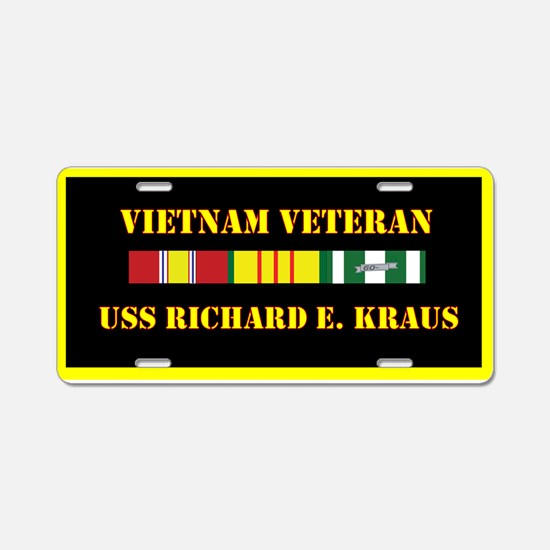 USS Richard W Kraus Aluminum License Plate