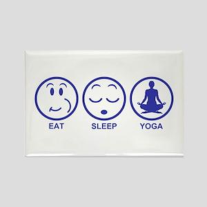 Eat Sleep Yoga Rectangle Magnet