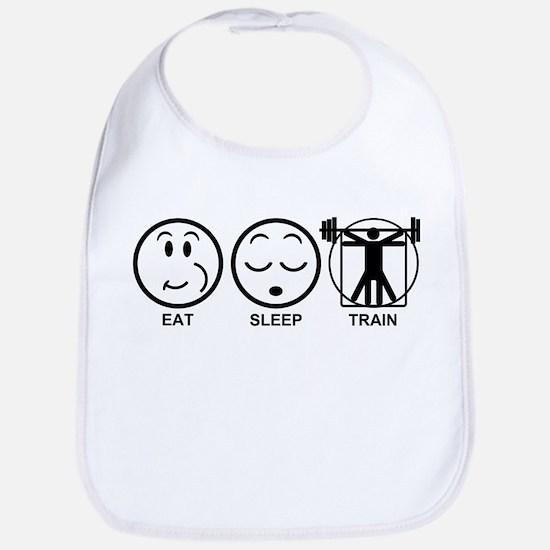 Eat Sleep Train Bib