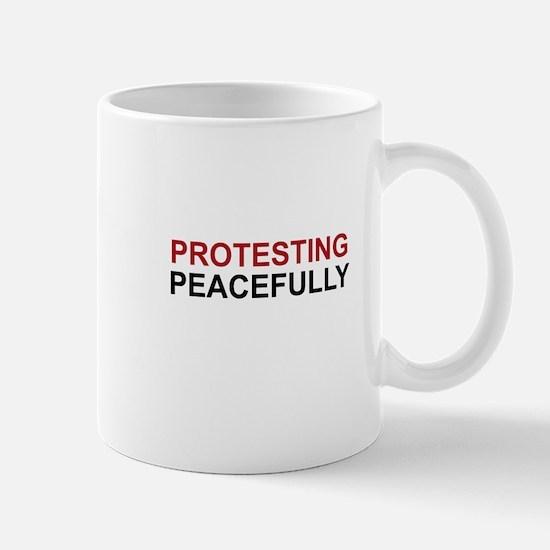 Protesting Peacefully Mug