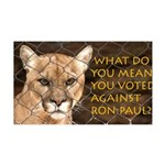You Voted Against Ron Paul? 35x21 Wall Decal