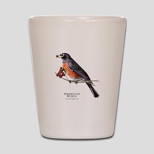 American Robin Shot Glass