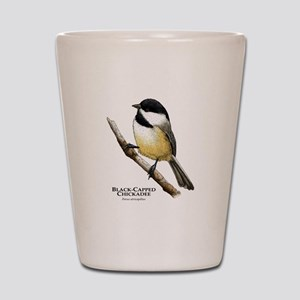 Black-Capped Chickadee Shot Glass