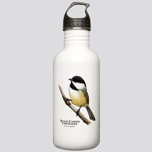 Black-Capped Chickadee Stainless Water Bottle 1.0L
