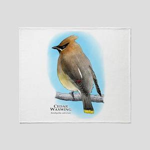 Cedar Waxwing Throw Blanket