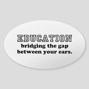 Knowledge is Power Sticker (Oval)