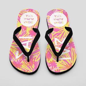 Sigma Alpha Iota Tropical Pink Flip Flops