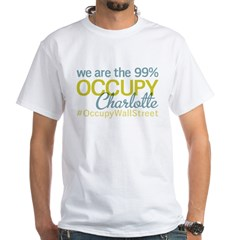 Occupy Charlotte White T-Shirt