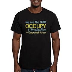 Occupy Charleston Men's Fitted T-Shirt (dark)