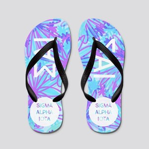 Sigma Alpha Iota Tropical Purple Flip Flops