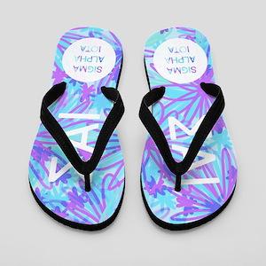 Sigma Alpha Iota Tropical Purple Flip Flops