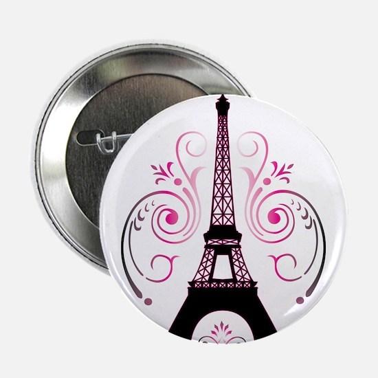 """Eiffel Tower Gradient Swirl 2.25"""" Button"""