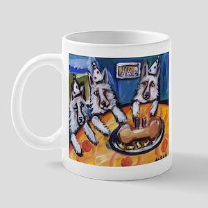 WHITE GERMAN SHEPHERD summer  Mug