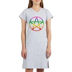 Rainbow Pentacle Women's Nightshirt