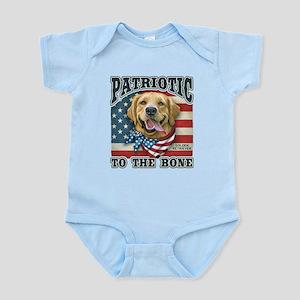 Patriotic - Golden Retriever Infant Bodysuit