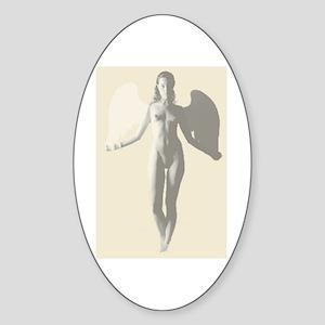 Angel Woman Oval Sticker