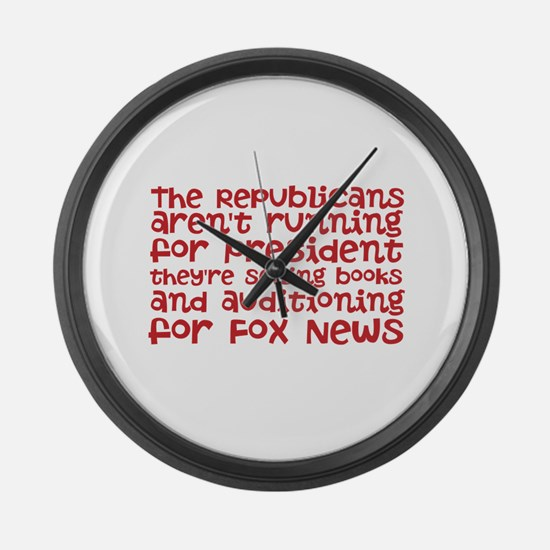 Republican Audition Large Wall Clock