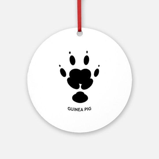 Guinea Pig Paw Print Ornament (Round)