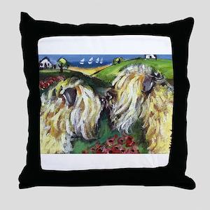 wheatie sniffs wheatie Throw Pillow