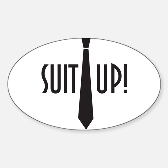Suit Up! Sticker (Oval)