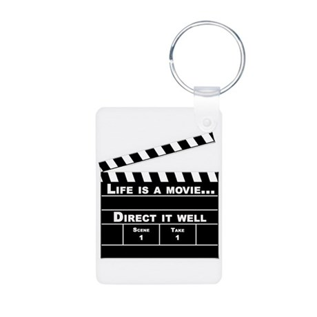 Life is a Movie Aluminum Photo Keychain