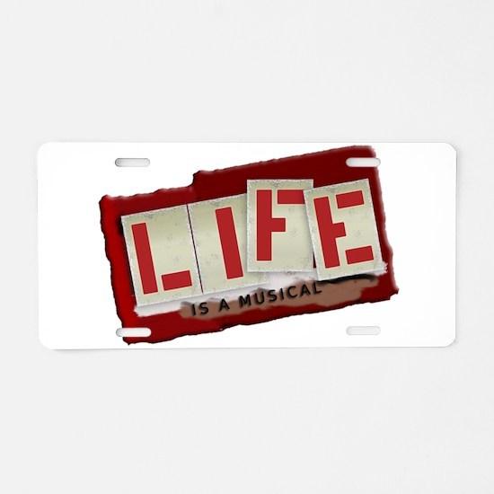 Musical Life Aluminum License Plate