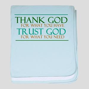 Thank God - Trust God baby blanket