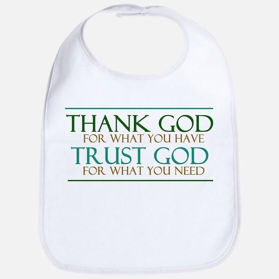 Thank God - Trust God Bib