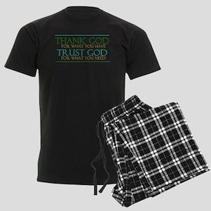 Thank God - Trust God Men's Dark Pajamas