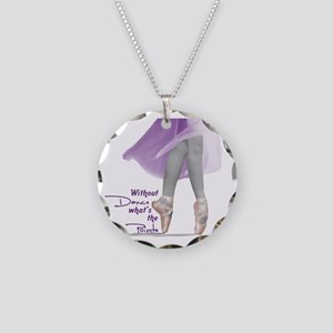 Pointe Necklace Circle Charm
