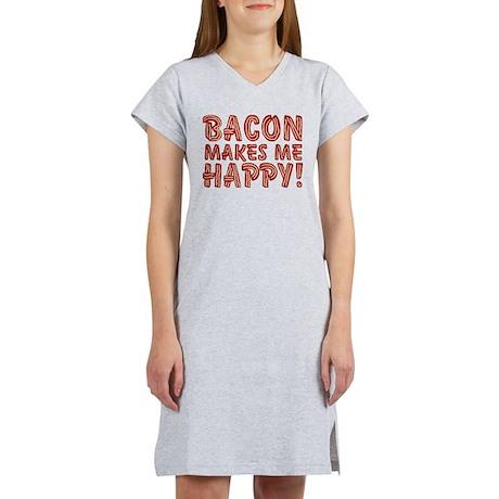 Bacon Makes Me Happy Women's Nightshirt