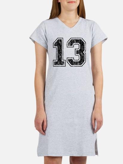 Retro 13 Number Women's Nightshirt