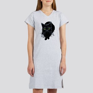 Black Cat Women's Nightshirt