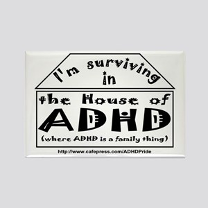 House of ADHD rectangle magnet