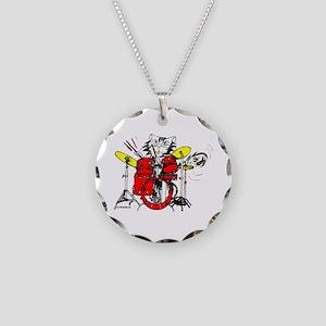 WILDCAT DRUMMER™ Necklace Circle Charm