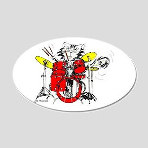 WILDCAT DRUMMER™ 22x14 Oval Wall Peel