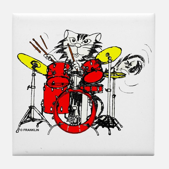 WILDCAT DRUMMER™ Tile Coaster