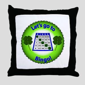 Let's go to Bingo! Throw Pillow