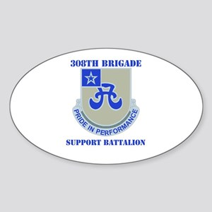 DUI - 308th Bde - Support Bn with Text Sticker (Ov