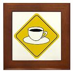 Coffee Crossing Sign Framed Tile